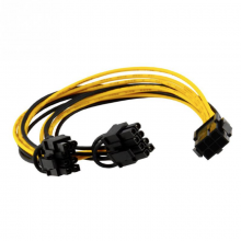 Bitcoin Mining PCI-E 6pin TO 2 PCI-E 6+2pin Splitter Cable