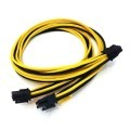Dell T5610 8 Pin Dual 6+2 Pin PCIE Cable (Black/Yellow)