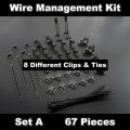 Premium Computer Cable Wire Management Kit - Set A (67pcs)