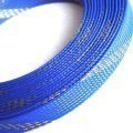 Deluxe High Density Weave Blue/Gold Cable Sleeve (16mm)