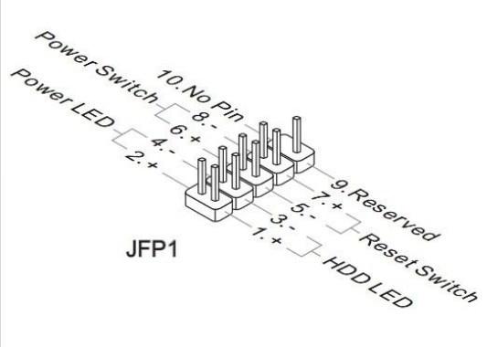 motherboard wiring diagram power reset