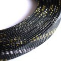 Deluxe High Density Weave Black/Gold/Silver Cable Sleeve (16mm)