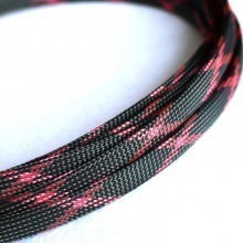 Deluxe High Density Weave Black/Pink Cable Sleeve (10mm)