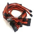 XFX Pro Series Single Sleeved Power Supply Modular Cables Set (Black/Orange)