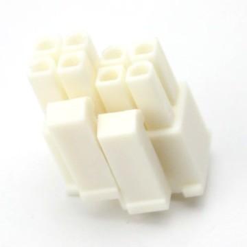 4+4-Pin PSU CPU/EPS Power Female Connector w/ Pins - White