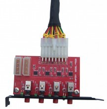 4-Channel SATA HDD Power Switch PCI Slot Controller