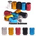 Premium Wheel Tire Valve Stem Air Metal Caps Set (Polished Aluminum)