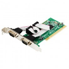 2 x DB-9 Serial (COM) Ports PCI Controller Card (Support Low Profile)
