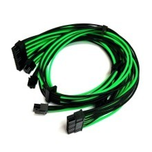 Rosewill Quark Premium Single Sleeved Modular Cable Set (Black/Green)