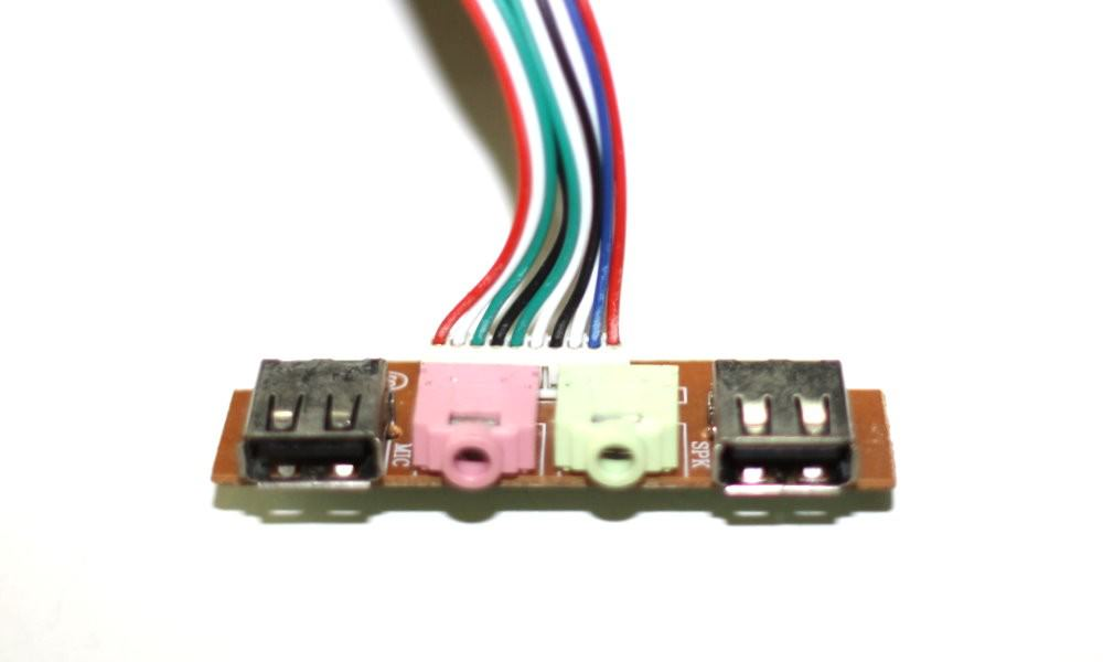 usb ac97 hd audio motherboard internal front panel cable moddiy com rh moddiy com Stereo Mini Jack Stereo Headphone Jack Wiring Diagram