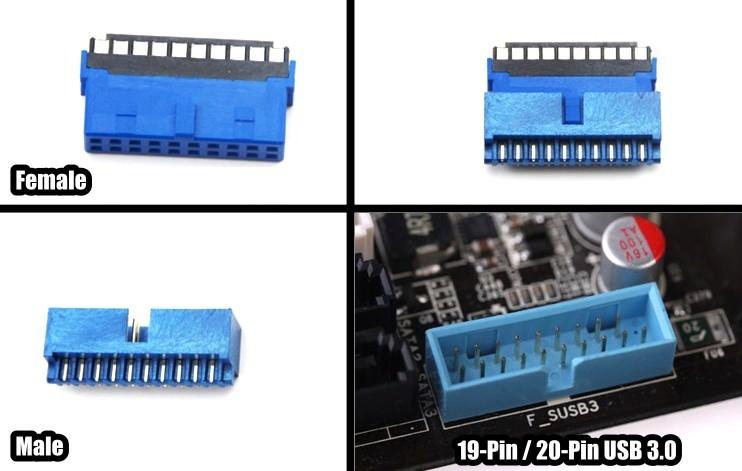 Usb 3 0 19 Pin 20 Pin Idc Connector Female Moddiy Com