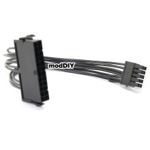 Premium Lenovo PSU Main Power 24 Pin to 10 Pin Adapter Cable All Black