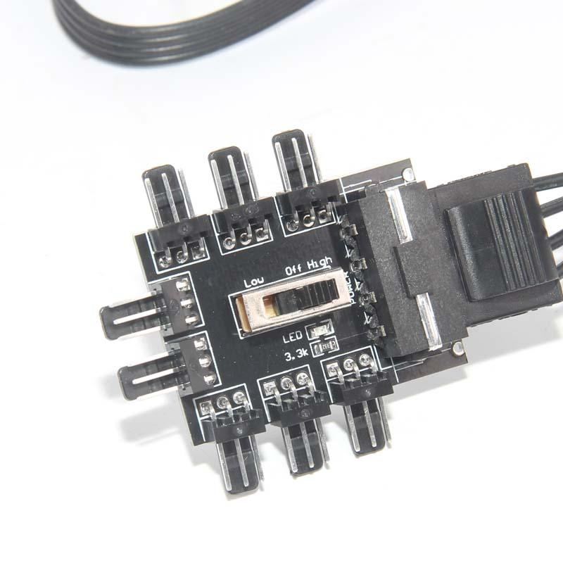 8 Way 3 Pin 4 Pin Micro Fan Pwm Speed Controller Hub