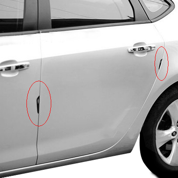 Car Door Edge Guards Anti-collision Scratch Protection Strip Bumpers (Red) - modDIY.com : door gaurds - pezcame.com