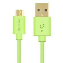 Premium Micro USB Fast Charge Cable with Gold Plated Connector (Green)