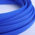 Deluxe High Density Weave Blue Cable Sleeve (12mm)