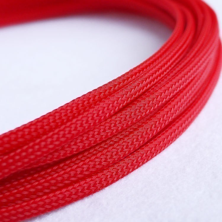 Deluxe High Density Weave Red Cable Sleeve (3mm) - modDIY.com