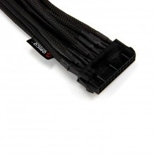 Premium Single Braid 24Pin Extension Cable (45cm Black)