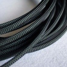 Deluxe High Density Weave Black Cable Sleeve (6mm)