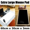 Extra Large Desktop Mouse Pad (Black / White)