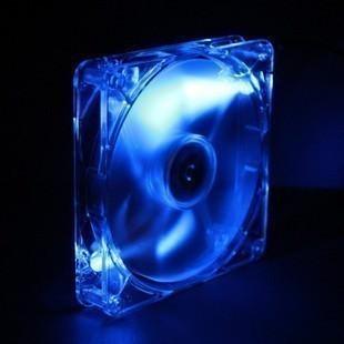 Yate Loon 140mm x 25mm Blue LED Transparent Fan (1400RPM 29dBA 62CFM)