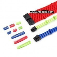 Single Sleeved Power Cable Combs 6 Pin 8 Pin 24 Pin Red Blue Green RGB