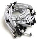 SilverStone Strider ST1500 Premium Single Braid Modular Cables Complete Set (White)