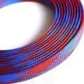 Deluxe High Density Weave Blue/Red Cable Sleeve (16mm)