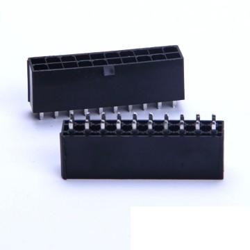 18-Pin PSU Modular Male Header Connector - Straight - Black
