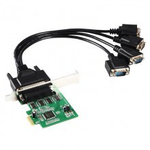 4 Serial Port PCI Express Controller Card with Fan Out Cable (MCS9904)