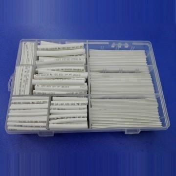 Premium Multi-Size White Heat Shrinkable Tube Box Set (385 Pieces)