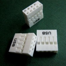 2.54mm Dupont 10-Pin USB Housing Connector (White)