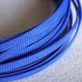 Deluxe High Density Weave Blue Cable Sleeve (6mm)