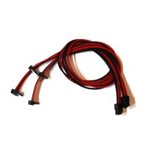 Corsair AX850/AX750/AX650 Premium Single Sleeved 6-Pin to Dual SATA Modular Cable (55+5cm Black/Red)