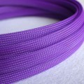 Deluxe High Density Weave Purple Cable Sleeve (10mm)