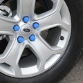 High Quality Silicone Car Wheel Hex Nuts Hub Screw Dust Covers (Blue)