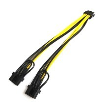 EPS CPU 8 Pin to 2 x PCIE 8 Pin Low Profile Connector Splitter Cable