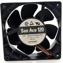 Sanyo San Ace 120 12038 12V 0.98A Cooling Fan (3600RMP) 9G1212HG105