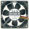 Sanyo 8025 80mm 12V 0.18A Cooling Radiator 3-Pin Fan