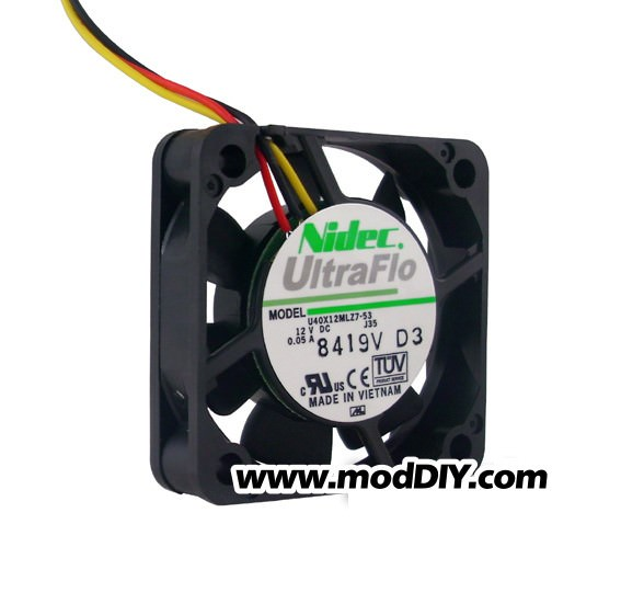 Nidec UltraFlo Ultra Silent 40mm 4010 Fan (5000RPM 14dBA)