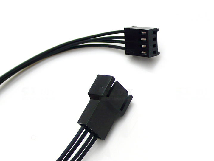 Computer Fan Extension Cable 2-Pin 3-Pin 4-Pin (20cm) - modDIY.com