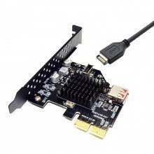 USB 3.1 Gen2 Front Type E Header 10Gbps PCIE 2X Add On Expansion Card