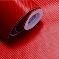 Red Carbon Fibre Sticker 3D Matt Dry Vinyl with Texture