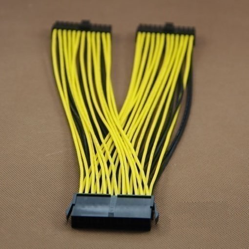 """NEW EPS 24 PIN OR ATX 24 PIN TRIPLE Y SPLITTER POWER CABLE--10/"""" MADE IN USA"""