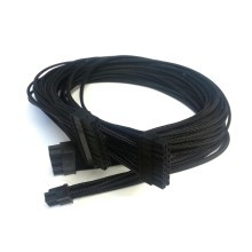 Enermax Premium Single Sleeved Modular Cable (24P & 8P MB/CPU) All Black