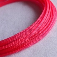 Deluxe High Density Weave UV Pink Cable Sleeve (6mm)