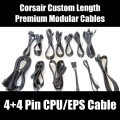 Corsair Custom Length Premium Black Ribbon Modular Cable (4+4 Pin CPU/EPS)