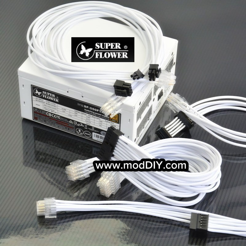 Professional Tailor-Made Super Flower Custom Sleeved Modular Cable Kit