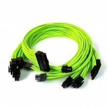 Corsair HX850i Premium Single Sleeved Modular Cable Set (Nvidia Green)