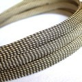 Deluxe High Density Weave Black/Gold Cable Sleeve (12mm)